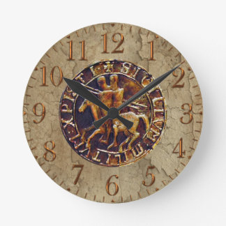 Medieval Seal of the Knights Templar Wall Clocks