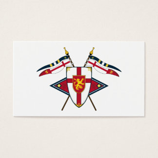 Medieval Shield and Flags Bookmark Business Card