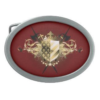 Medieval Shield Oval Belt Buckle
