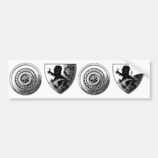 Medieval Shields Bumper Sticker