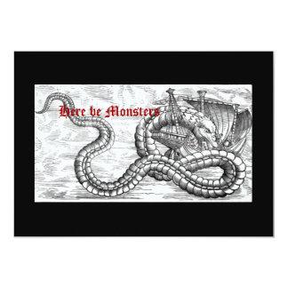 Medieval Ship and Dragon Invitations