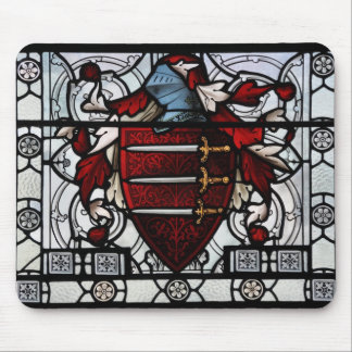 Medieval Stained Glass Panel Mouse Pad