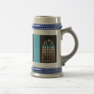 Medieval stained glass window, Holland Beer Stein