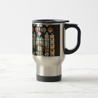 Medieval stained glass window, Holland Travel Mug
