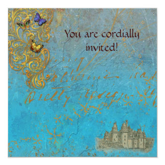 Medieval Storybook Castle Royal Invitation Card