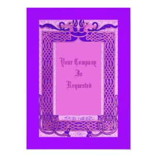 "Medieval Style Wedding Invites 5.5"" X 7.5"" Invitation Card"