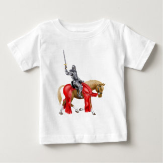 Medieval Sword Knight on Horse Baby T-Shirt