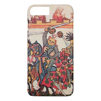 MEDIEVAL TOURNAMENT, FIGHTING KNIGHTS AND DAMSELS iPhone 7 PLUS CASE