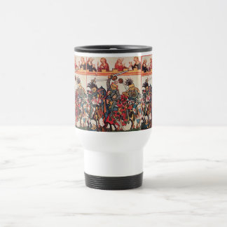 MEDIEVAL TOURNAMENT, FIGHTING KNIGHTS AND DAMSELS COFFEE MUG