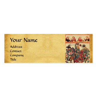 MEDIEVAL TOURNAMENT, FIGHTING KNIGHTS AND DAMSELS PACK OF SKINNY BUSINESS CARDS
