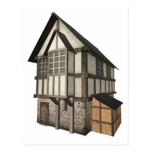 Medieval Town House Post Card