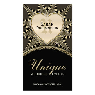 Medieval Vintage Gold Unique Wedding Business Card
