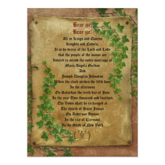 Medieval wedding Invitation large format