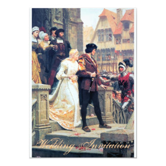 Medieval Wedding Romance 13 Cm X 18 Cm Invitation Card