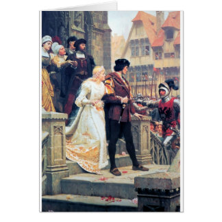 Medieval Wedding Romance Greeting Card
