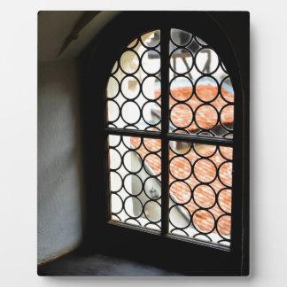 Medieval window display plaque