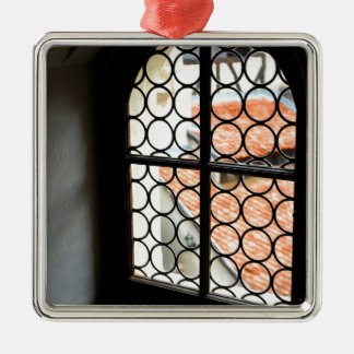 Medieval window Silver-Colored square decoration
