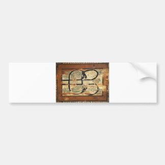medieval wood painting art vintage old history bumper sticker