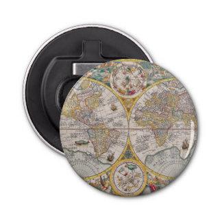 Medieval World Map From 1525 Bottle Opener