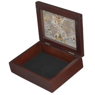 Medieval World Map From 1525 Keepsake Box
