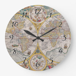 World map wall clocks zazzle medieval world map from 1525 large clock gumiabroncs Image collections