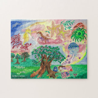 Medilludesign - Lucid dreams - flying in the sea Jigsaw Puzzle