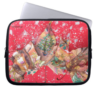 Medilludesign - Merry Christmas Laptop Sleeve