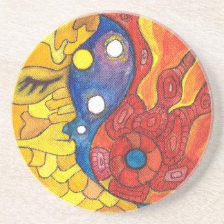 Medilludesign Moon Sun Coaster