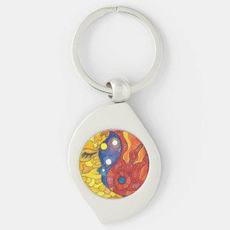 Medilludesign Moon Sun Key Ring