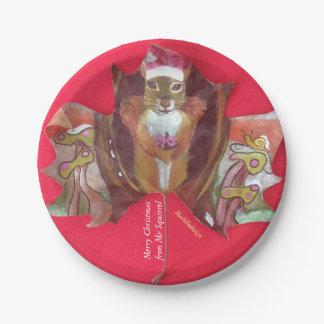 Medilludesign - Mr Squirrel Paper Plate