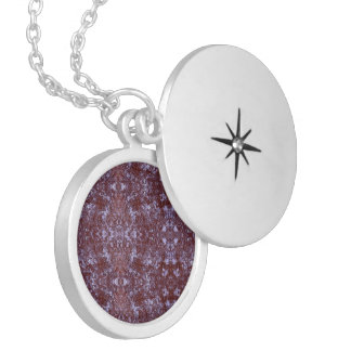Medilludesign Salt rock under the microscope Silver Plated Necklace