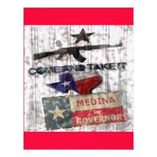 Medina For Governor 21.5 Cm X 28 Cm Flyer