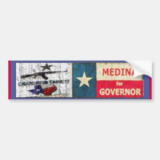 Medina For Governor Bumper Sticker