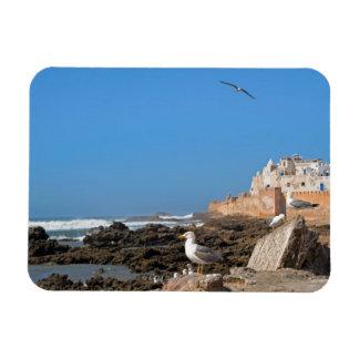 Medina of Essaouira and the Atlantic coast Rectangular Photo Magnet