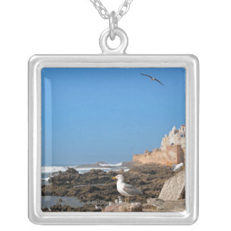 Medina of Essaouira and the Atlantic coast Silver Plated Necklace