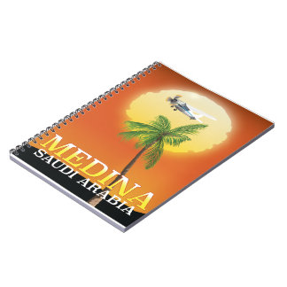 Medina Saudi Arabia Travel poster Spiral Notebook