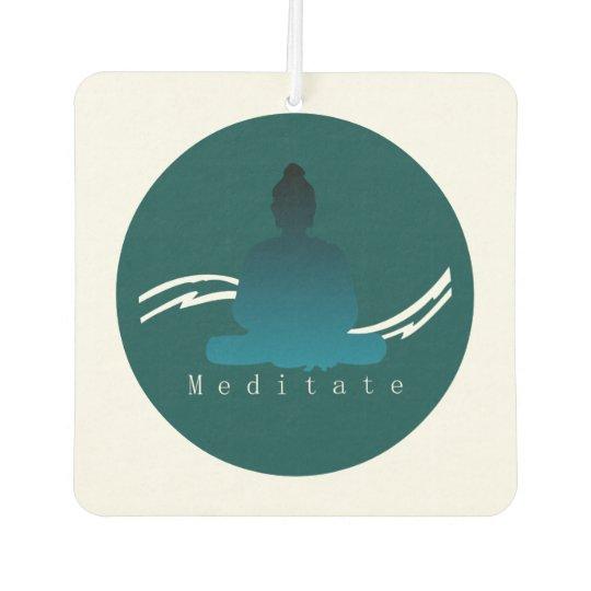 """Meditate"" Beautiful Buddha. Car Air Freshener"