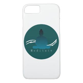"""""""Meditate"""" Beautiful Buddha Iphone case. iPhone 8/7 Case"""