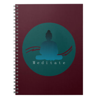 """Meditate"" Beautiful Buddha. Spiral Notebook"