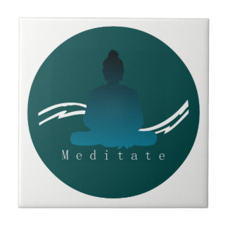 """Meditate"" Beautiful Buddha. Tile"