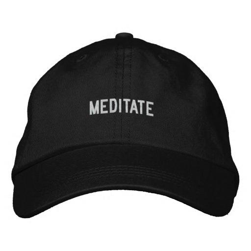 meditate baseball cap