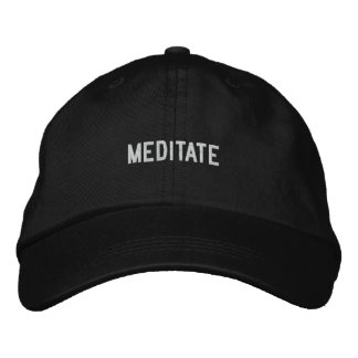 meditate embroidered hats