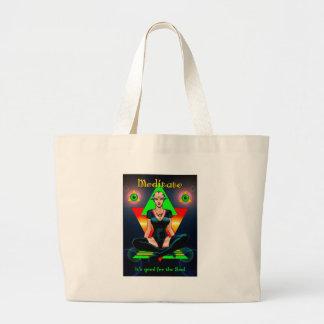 Meditate Large Tote Bag