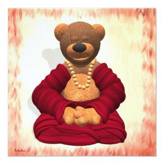 Meditating Buddha Bear Custom Announcement
