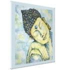 Meditating Buddha Watercolor Print Canvas 24x24