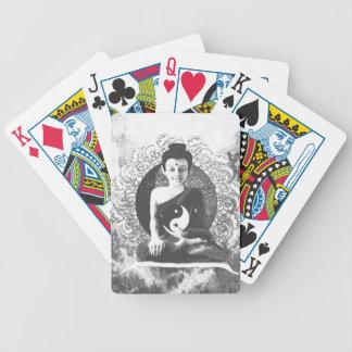 Meditating Buddha with Yin Yang Poker Deck