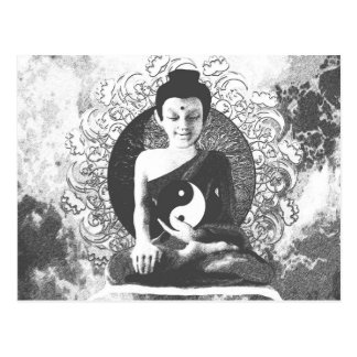 Meditating Buddha with Yin Yang Postcard