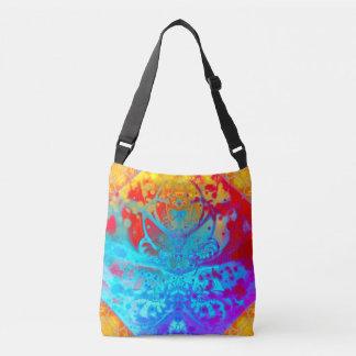 Meditating Entity (red-gold-blue) Crossbody Bag