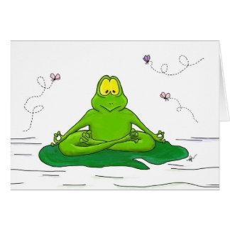 Meditating Frog Greeting Card