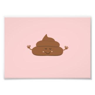 Meditating poo photo print